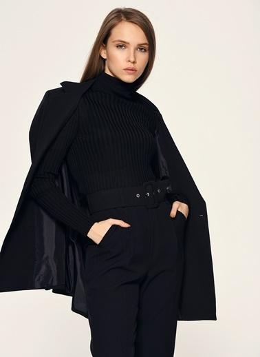 Loves You Balıkçı Merserize Bluz Siyah